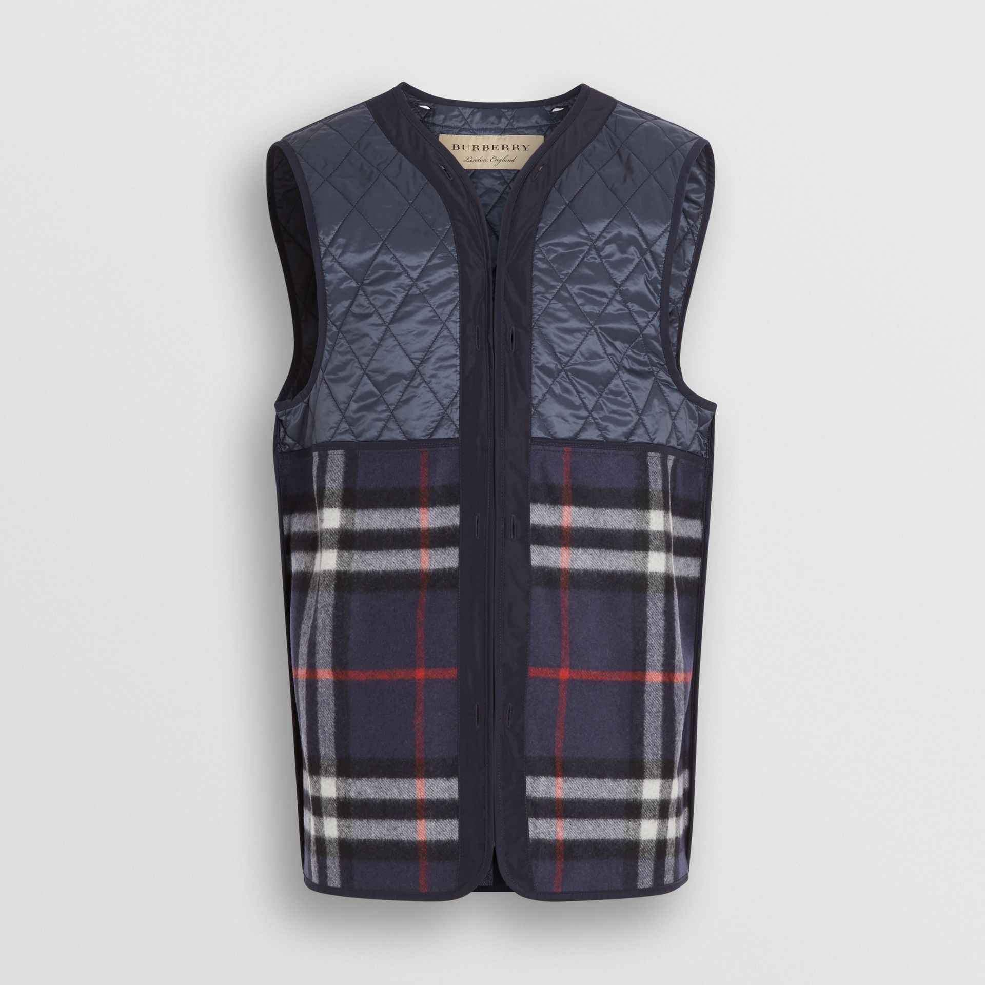 Shape-memory Taffeta Car Coat with Warmer in Navy - Men | Burberry - gallery image 7