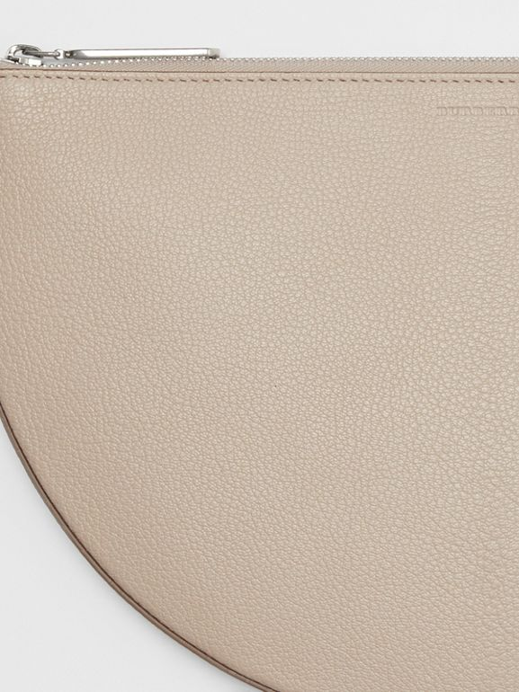 The Leather D Clutch in Stone - Women | Burberry - cell image 1