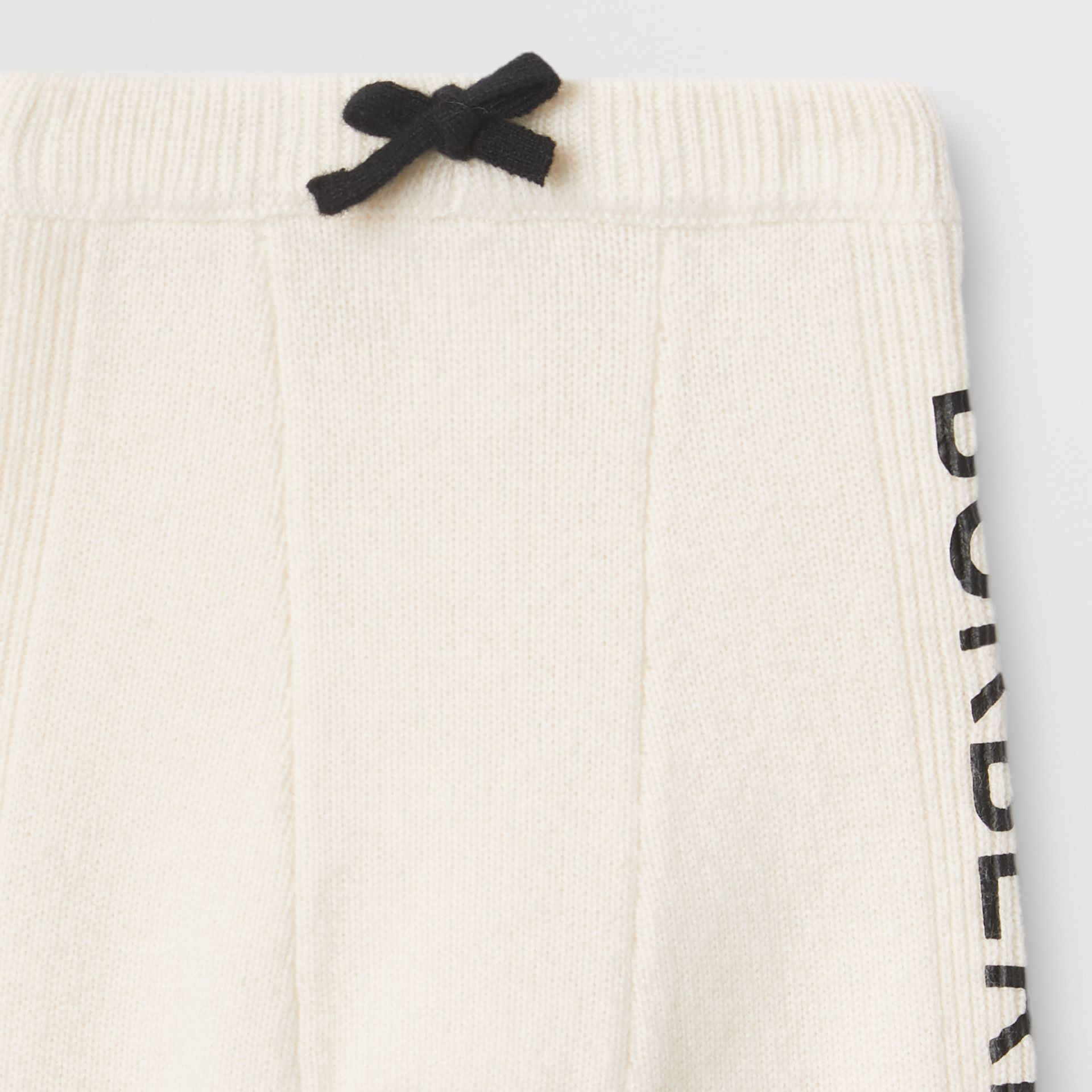 Logo Print Wool Cashmere Six-piece Baby Gift Set in Ivory - Children | Burberry - gallery image 9