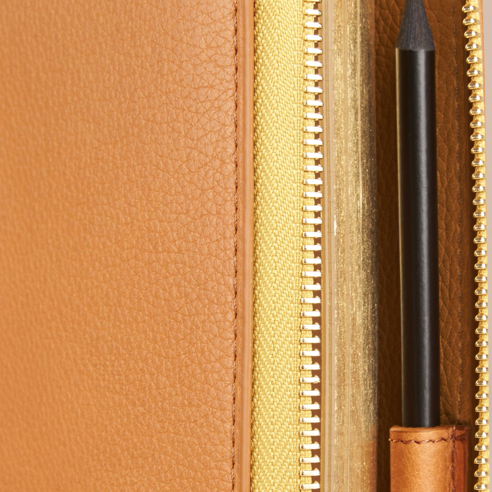 Ziparound Grainy Leather 18 Month 2016/17 A5 Diary in Ochre Yellow | Burberry - gallery image 2