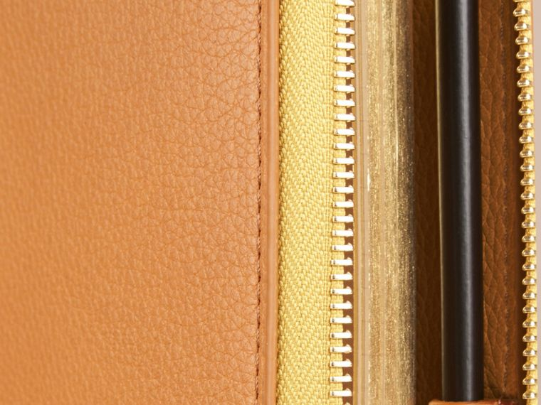 Ziparound Grainy Leather 18 Month 2016/17 A5 Diary in Ochre Yellow | Burberry - cell image 1
