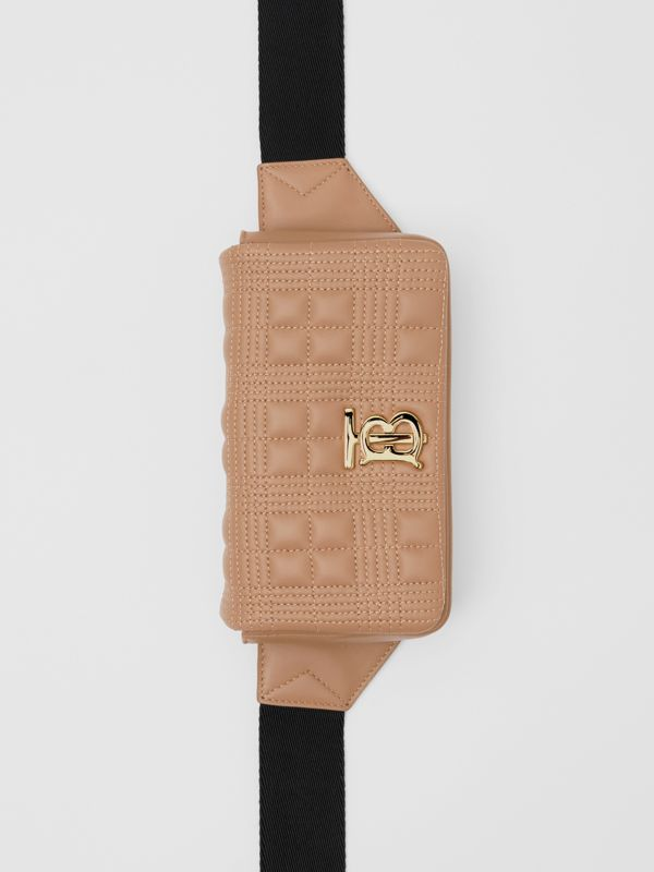 Quilted Lambskin Lola Bum Bag in Camel | Burberry United Kingdom - cell image 3