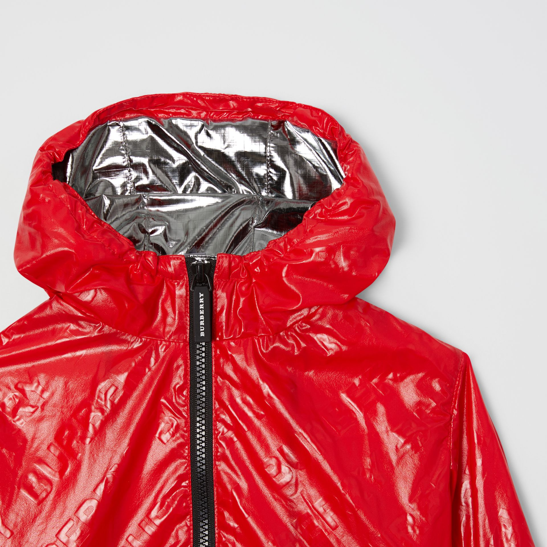 Logo Print Lightweight Hooded Jacket in Bright Red - Children | Burberry United States - gallery image 5