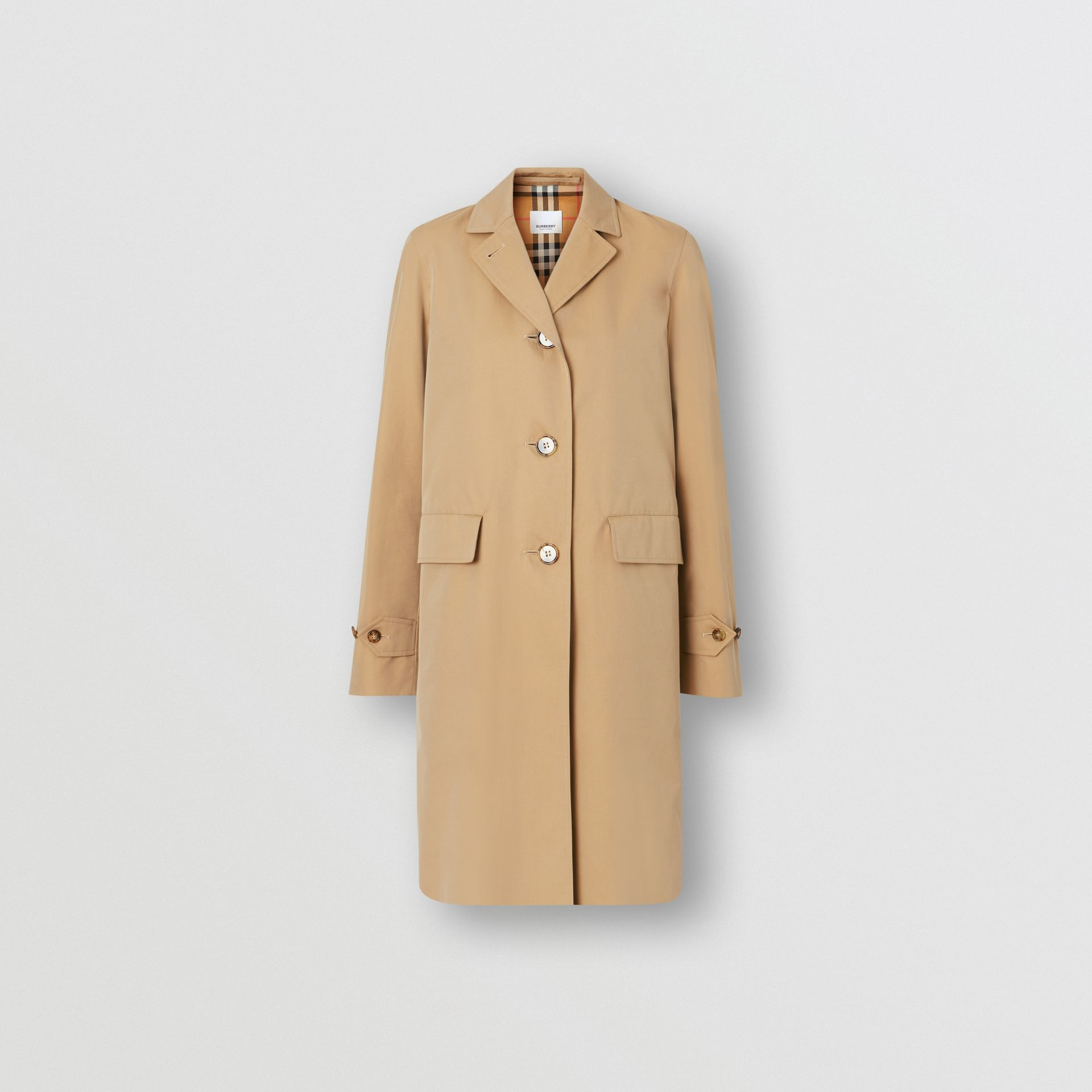 Cotton Gabardine Lab Coat in Honey - Women | Burberry - gallery image 3