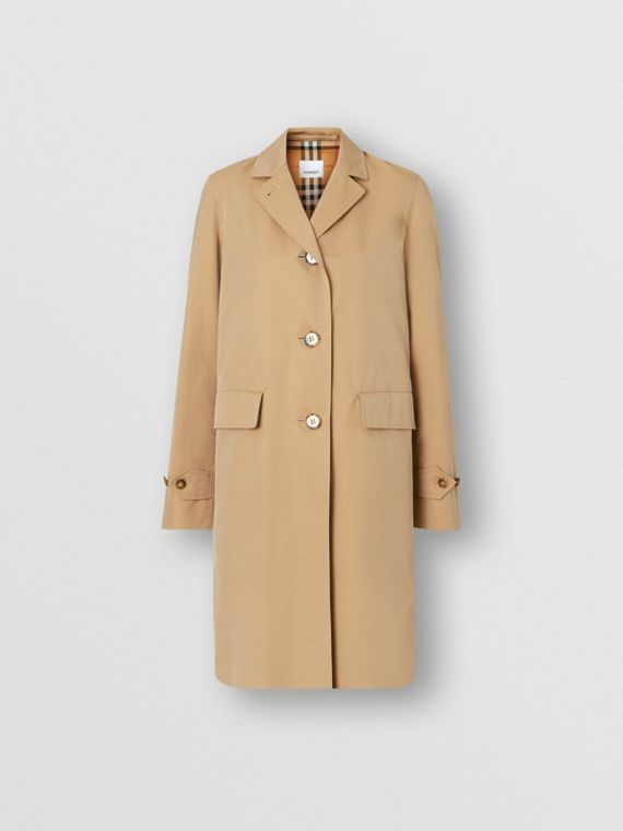 Cotton Gabardine Lab Coat in Honey