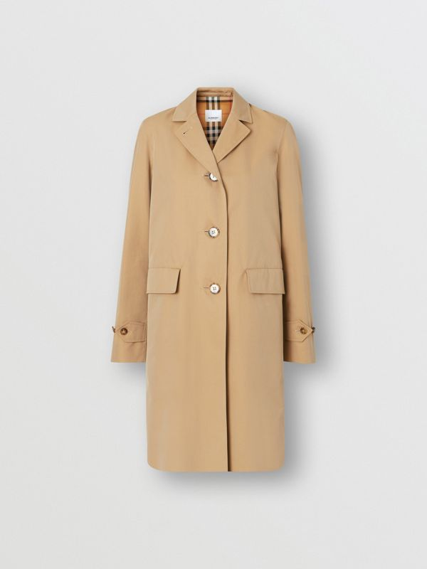 Cotton Gabardine Lab Coat in Honey - Women | Burberry - cell image 3