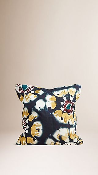 Floral Tie-dye Cotton Cushion Cover