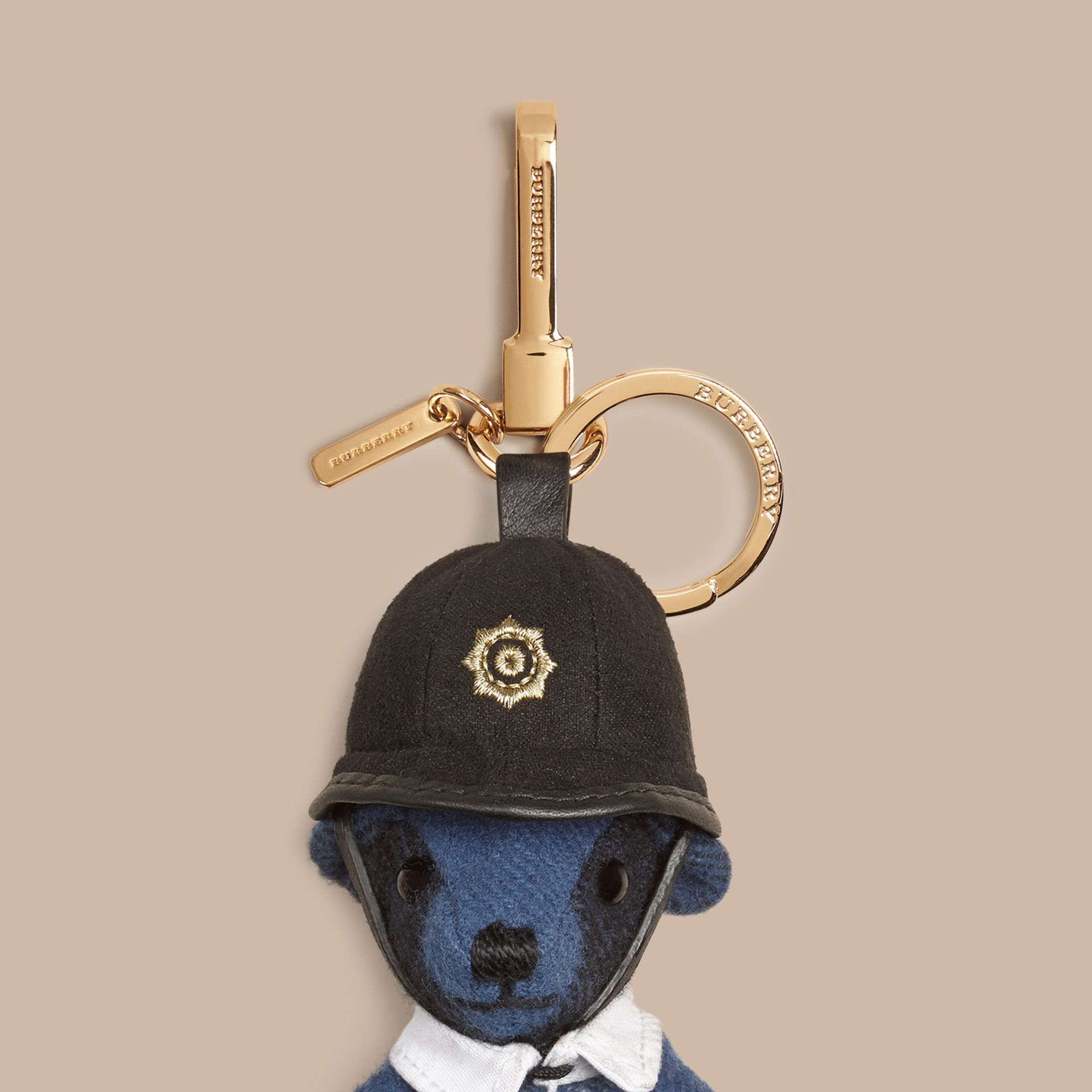 The Bobby Thomas Bear Charm in Cadet Blue | Burberry Australia - gallery image 1