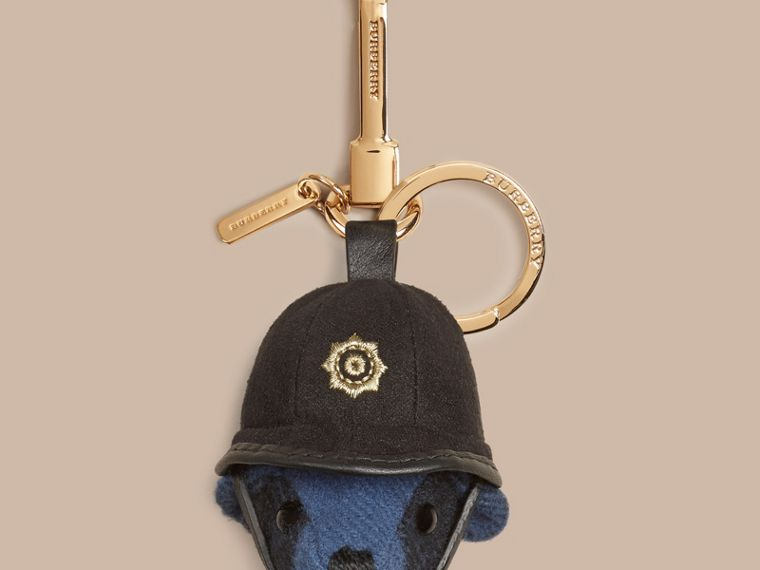 The Bobby Thomas Bear Charm in Cadet Blue | Burberry Australia - cell image 1