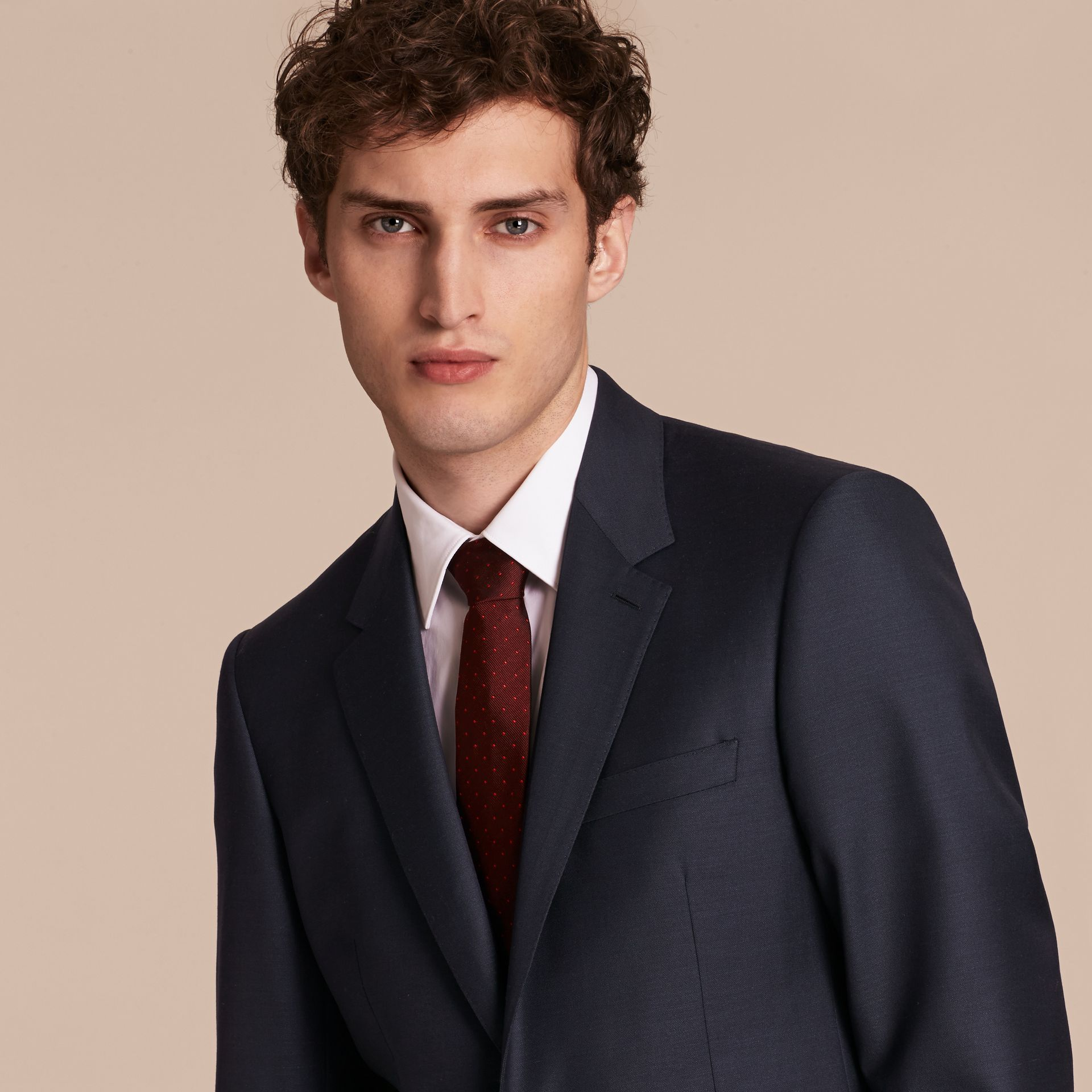 Modern Fit Wool Silk Full-canvas Suit - gallery image 5