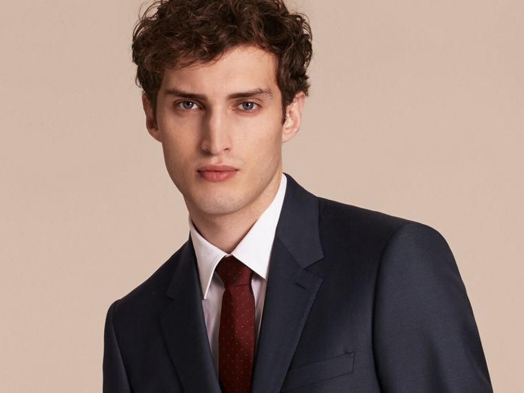Modern Fit Wool Silk Full-canvas Suit - cell image 4