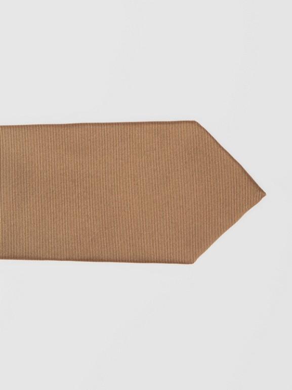 Cravatta classica in jacquard di seta con motivo tartan (Caramello) - Uomo | Burberry - cell image 1