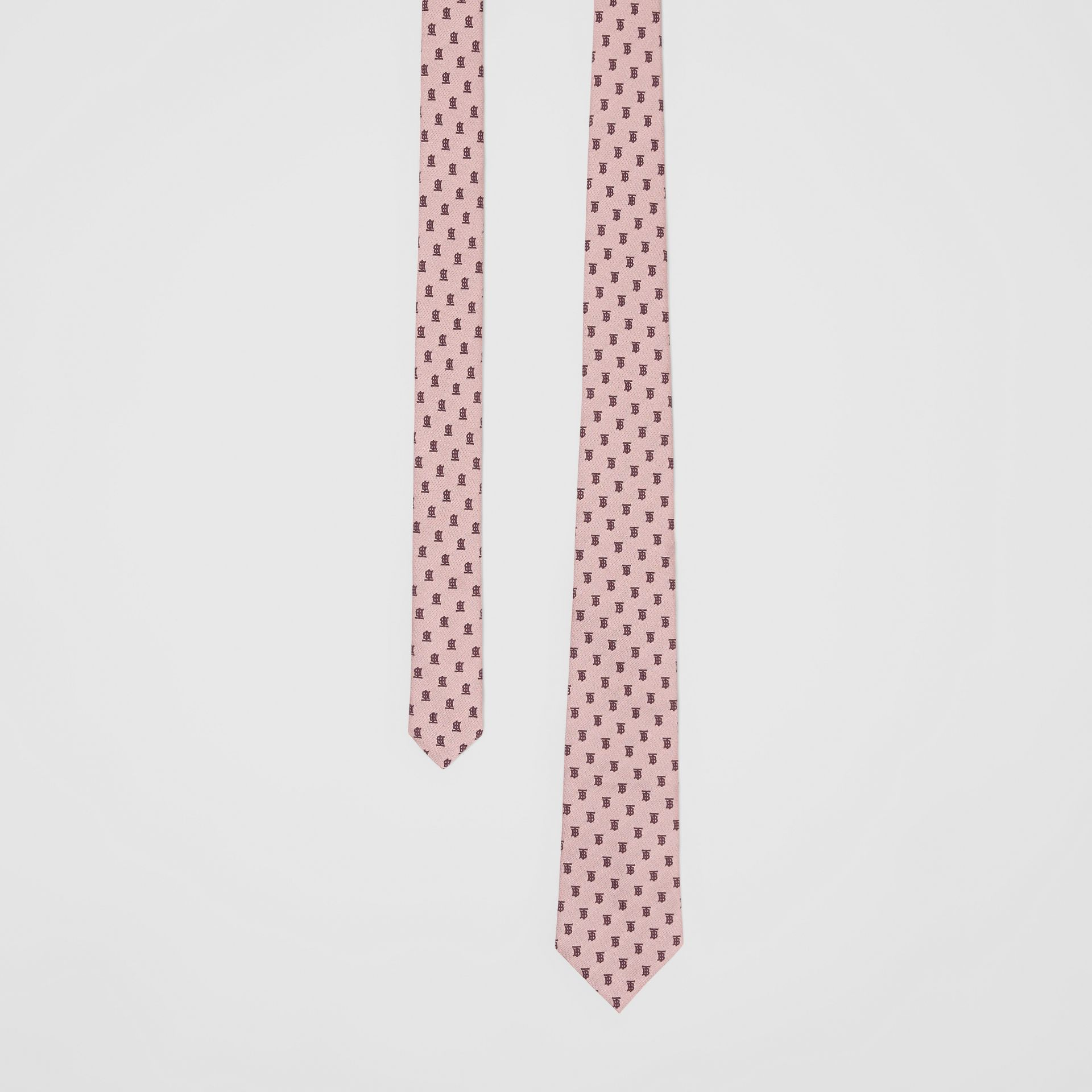 Classic Cut Monogram Silk Jacquard Tie in Pale Pink - Men | Burberry - gallery image 0