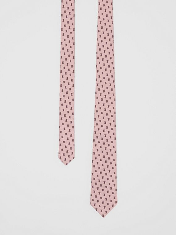 Classic Cut Monogram Silk Jacquard Tie in Pale Pink