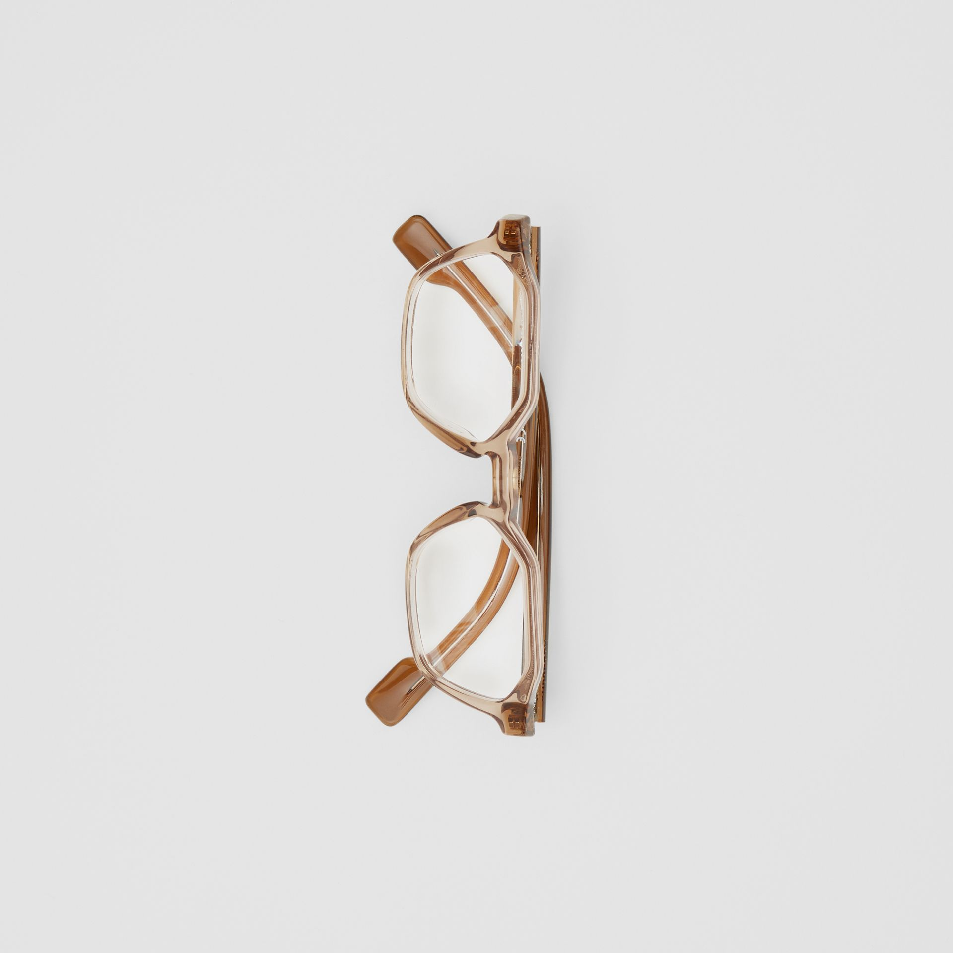 Geometric Optical Frames in Brown - Women | Burberry - gallery image 3