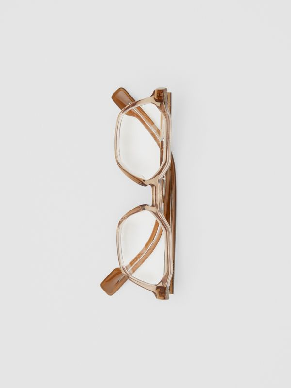 Geometric Optical Frames in Brown - Women | Burberry - cell image 3