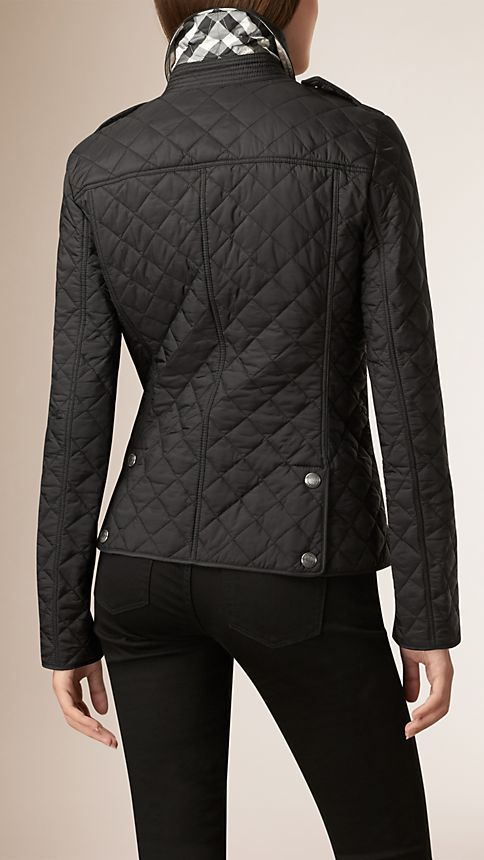 Black Diamond Quilted Jacket Black - Image 3