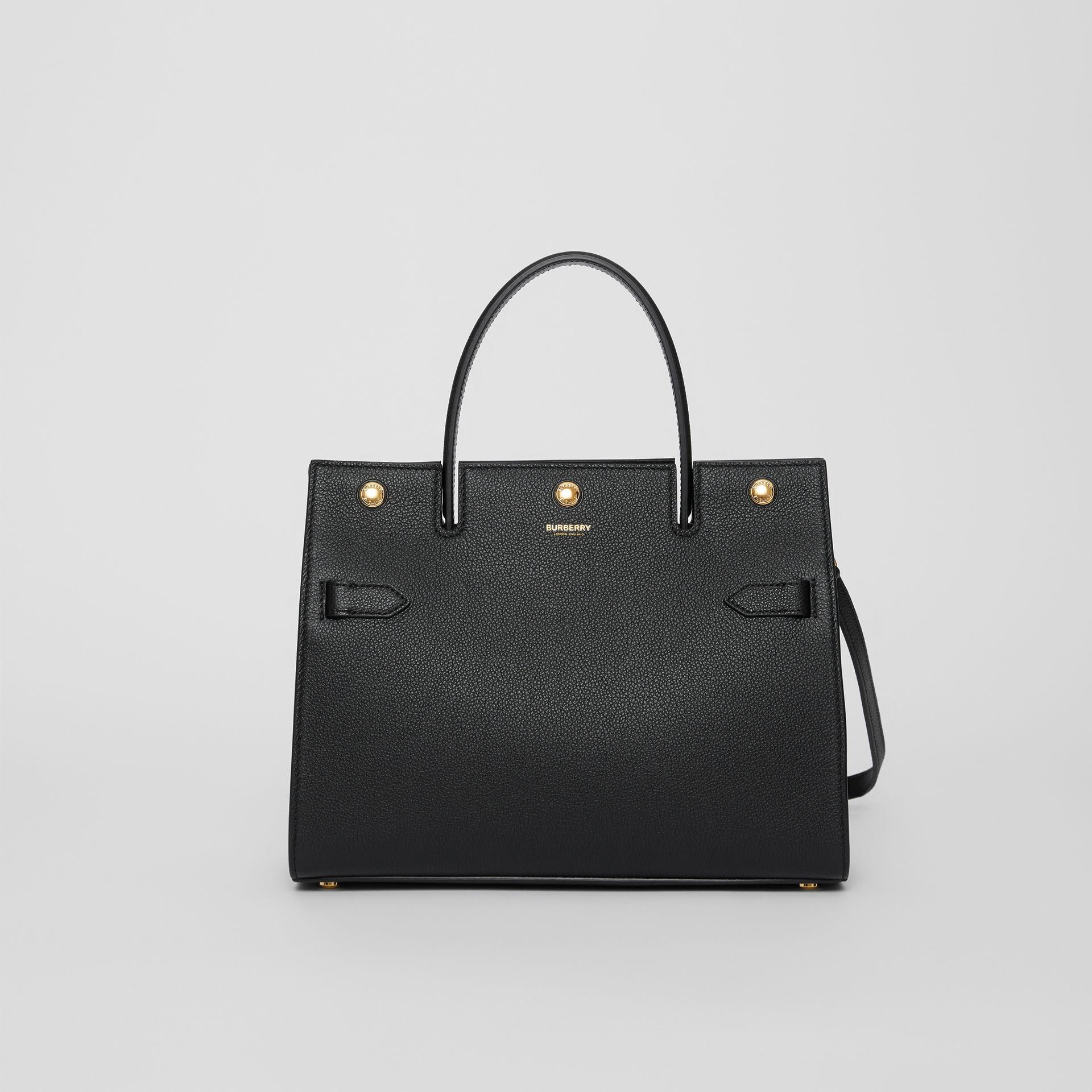 Small Leather Title Bag in Black - Women | Burberry - gallery image 0