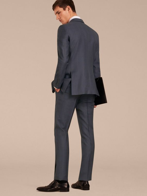 Navy Modern Fit Wool Half-canvas Suit - cell image 2