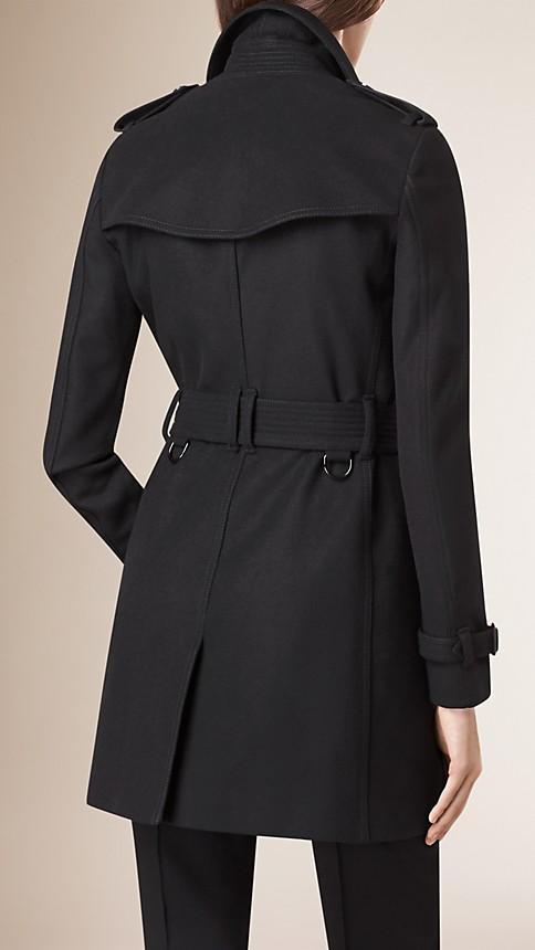 Noir Trench-coat en laine vierge et cachemire - Image 3