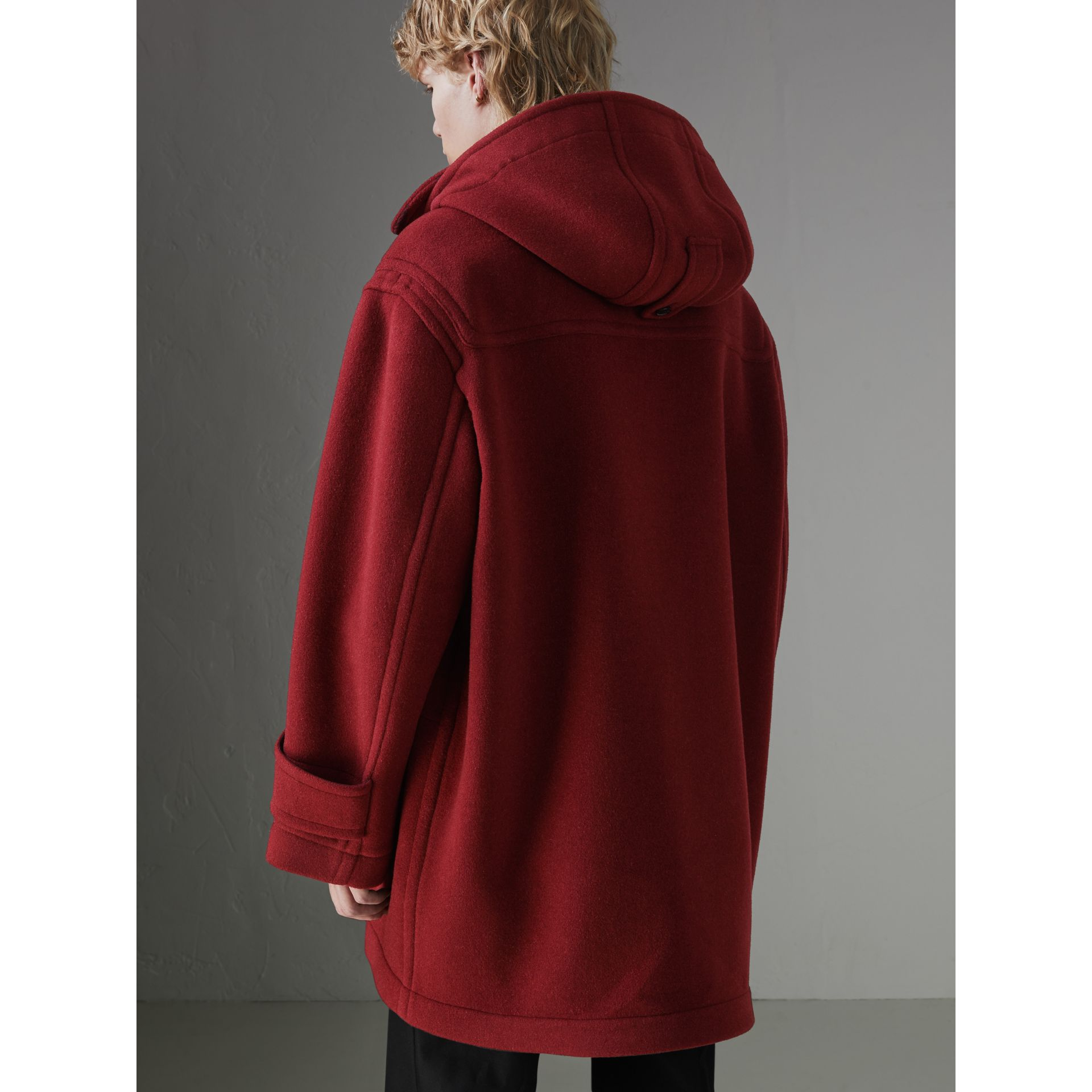Gosha x Burberry Oversized Duffle Coat in Claret | Burberry - gallery image 7