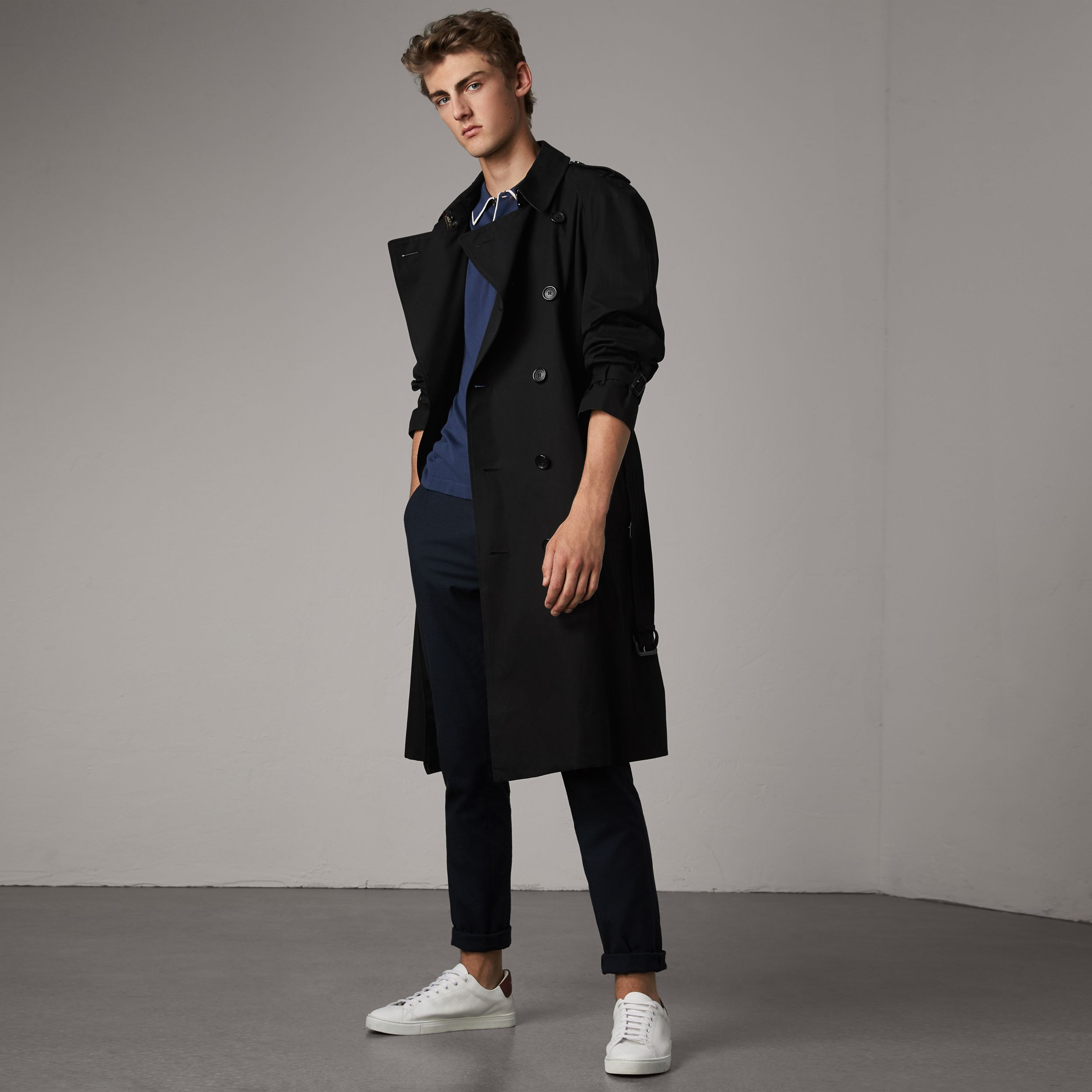 The Westminster – Extra-long Trench Coat in Black - Men | Burberry United States - 1