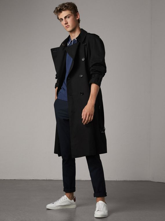 The Westminster – Extra-long Trench Coat in Black