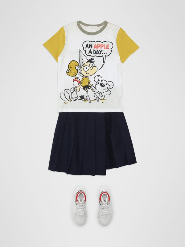 Cartoon Print Cotton T-shirt in White | Burberry Singapore - cell image 2