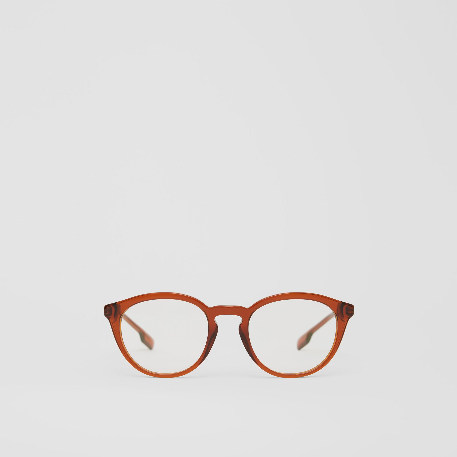 Round Optical Frames in Amber - Men | Burberry - gallery image 0