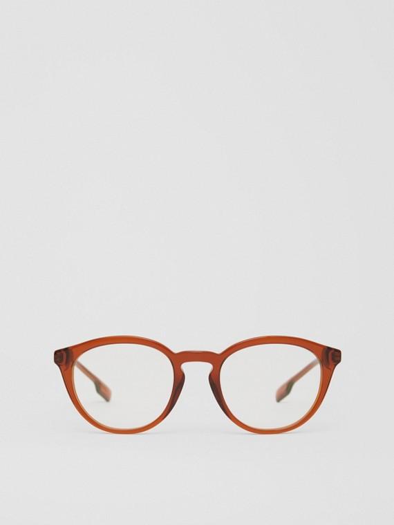 Monture ronde pour lunettes de vue (Ambre)