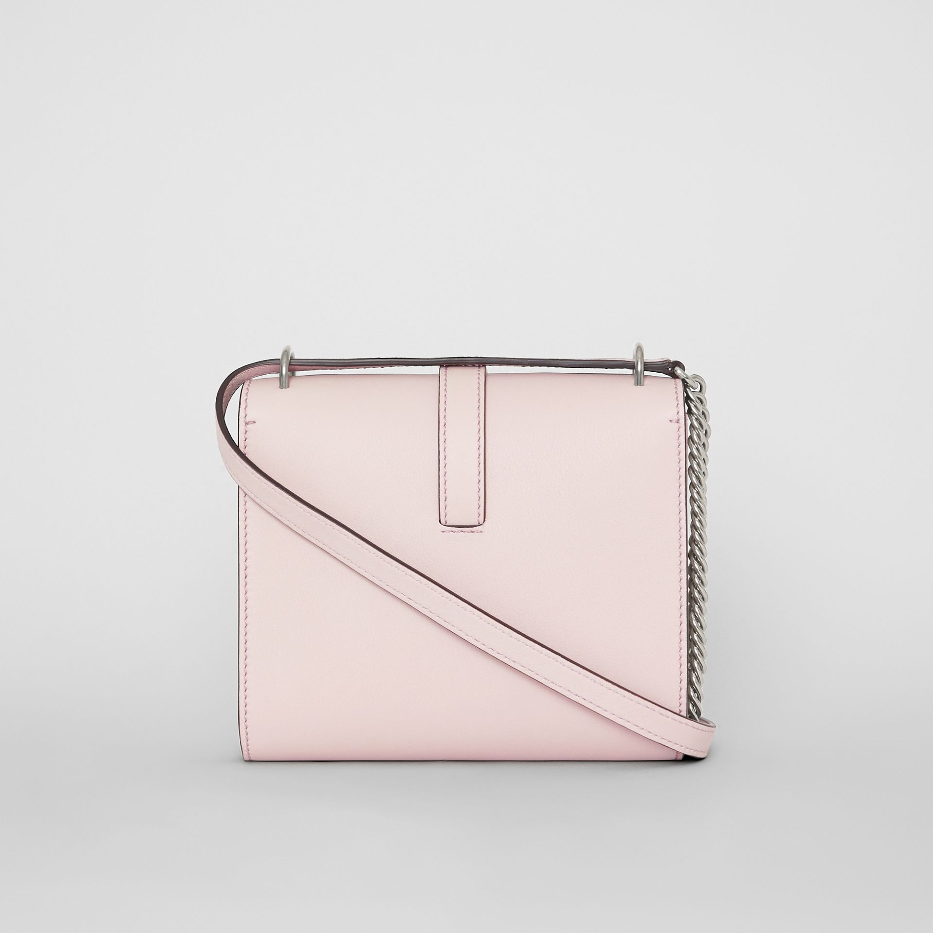 The Leather Grommet Detail Crossbody Bag in Chalk Pink - Women | Burberry United Kingdom - gallery image 7