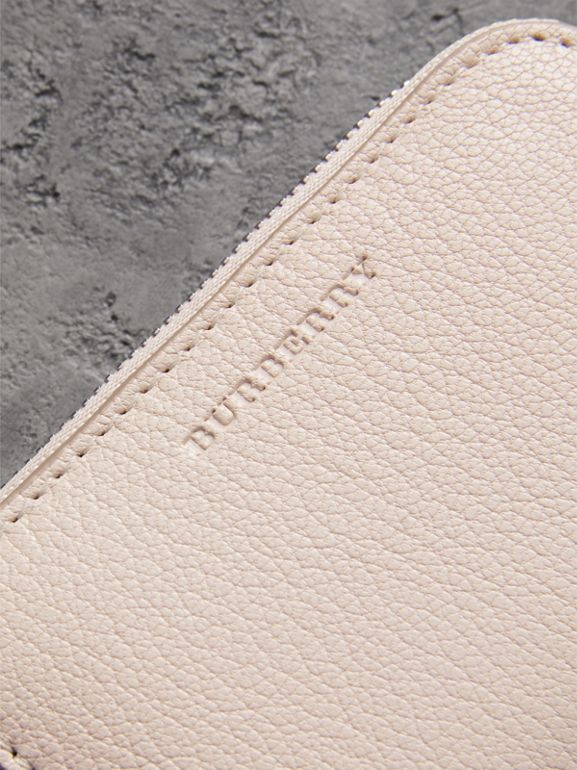 Link Detail Leather Ziparound Wallet in Stone - Women | Burberry Canada - cell image 1