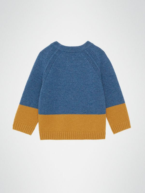 Logo Intarsia Cashmere Sweater in Dusty Blue Melange - Children | Burberry - cell image 3