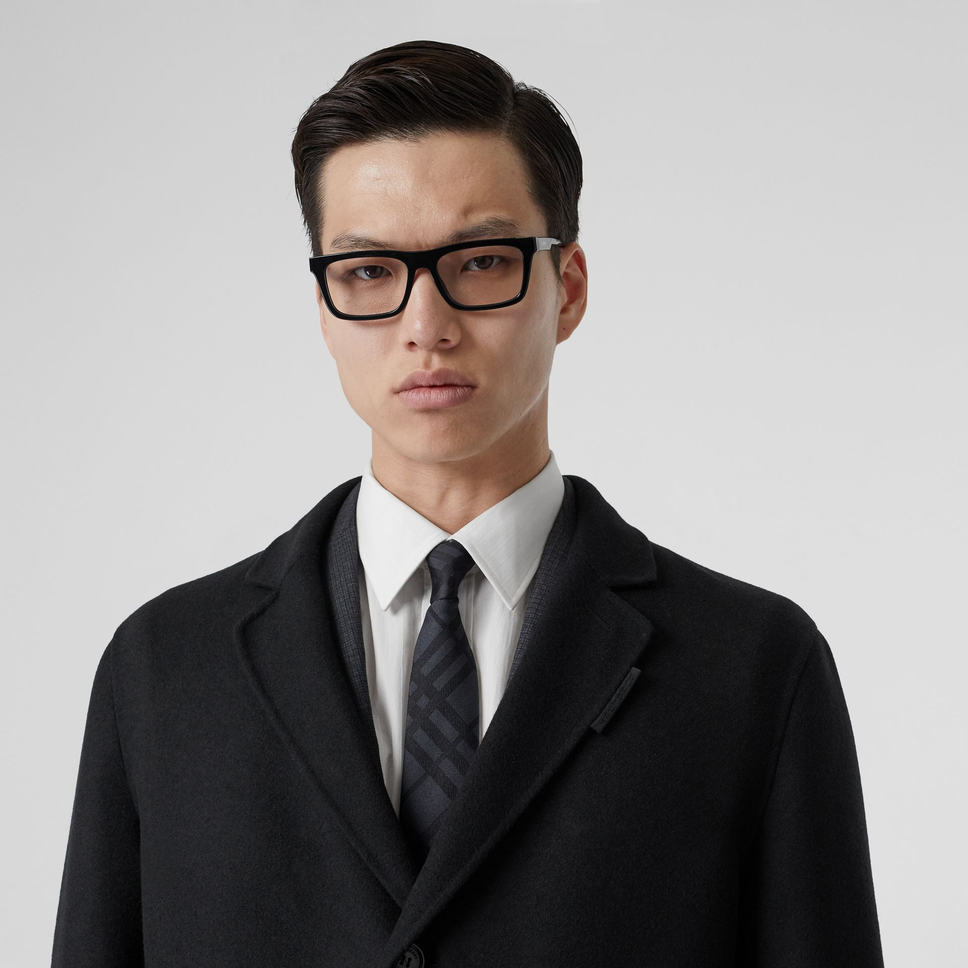 Wool Cashmere Lab Coat in Black - Men | Burberry - gallery image 1