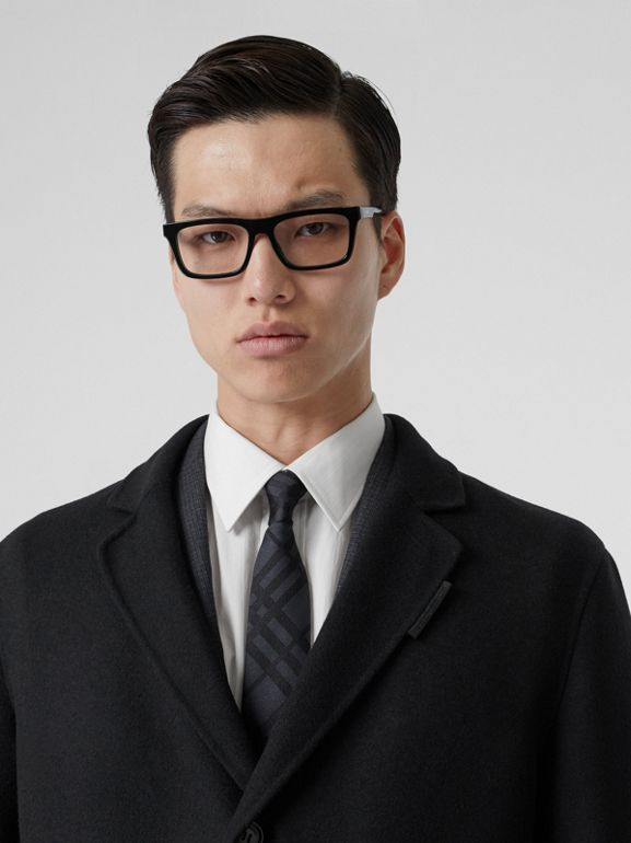 Wool Cashmere Lab Coat in Black - Men | Burberry - cell image 1