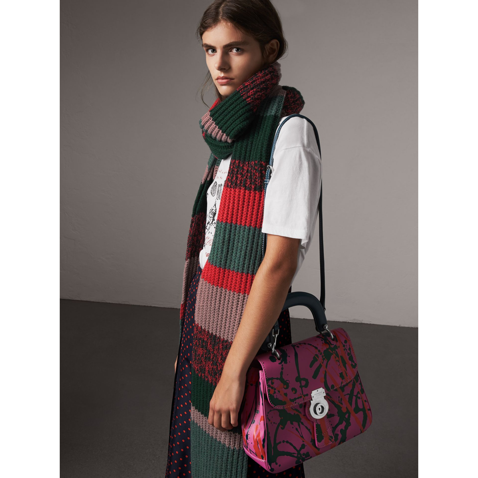 The Medium DK88 Splash Top Handle Bag in Rose Pink - Women | Burberry Australia - gallery image 5