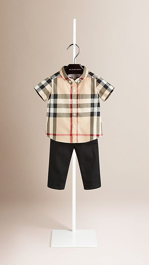 New classic check Check Cotton Twill Shirt - Image 1