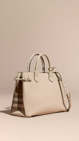 Sac The Banner medium en cuir et coton House check