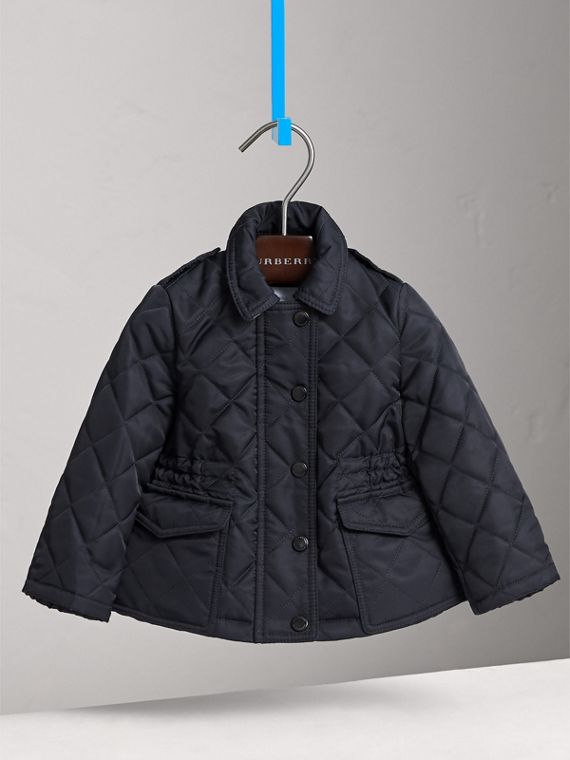 Quilted Jacket in Navy | Burberry Australia - cell image 2