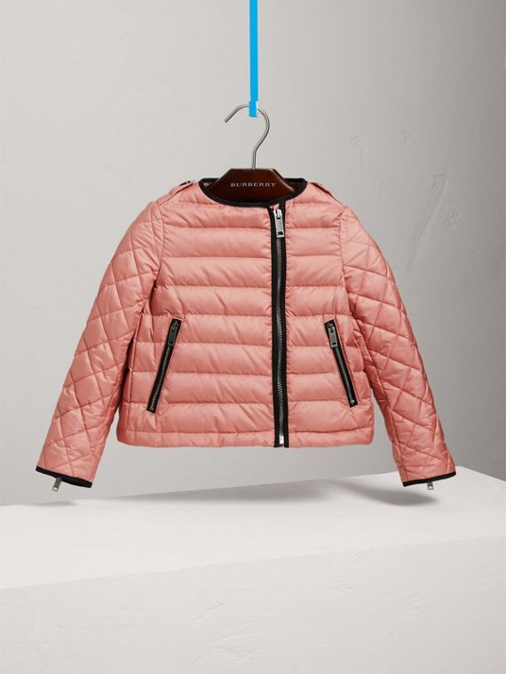 Showerproof Down-filled Jacket in Pale Rose - Girl | Burberry - cell image 2