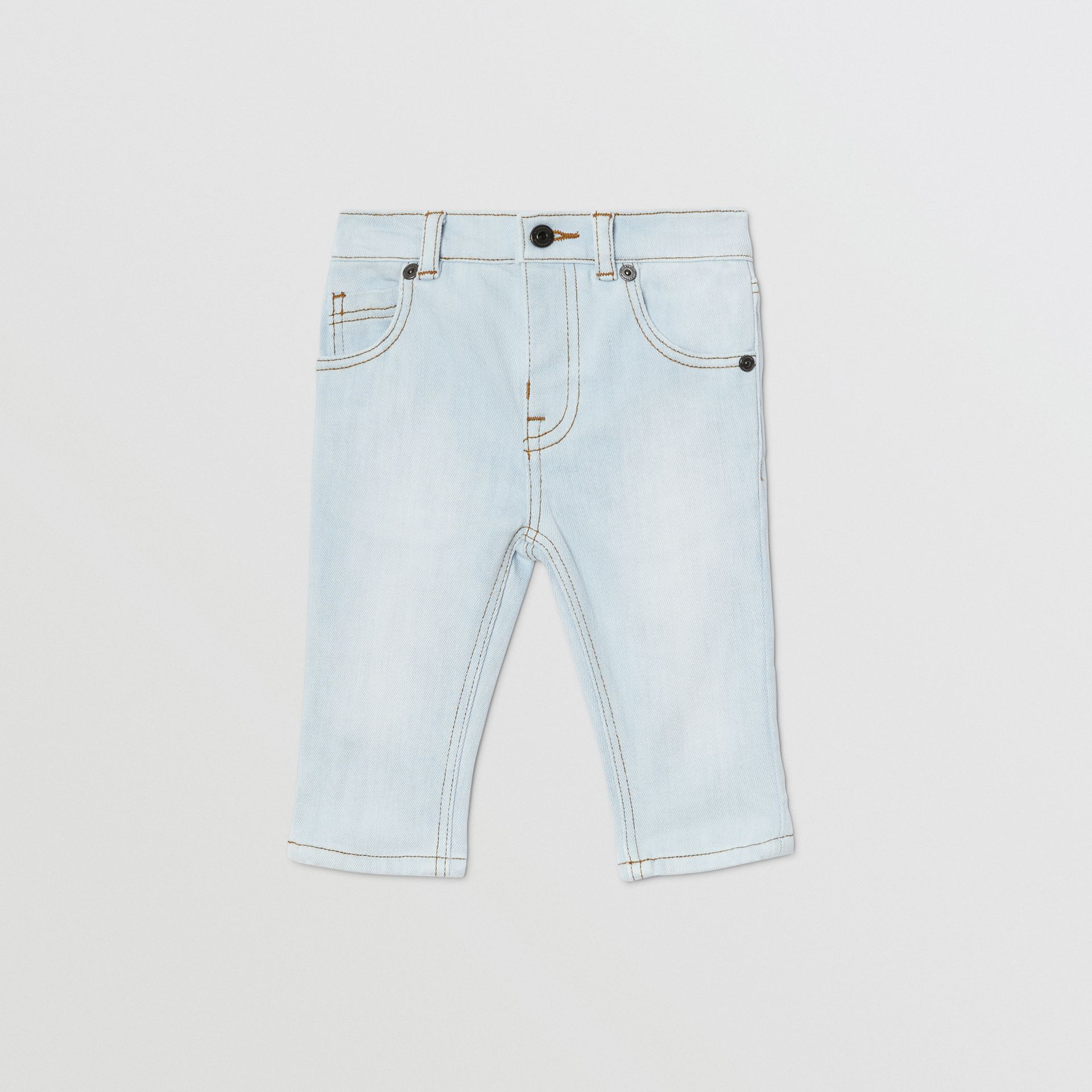 Relaxed Fit Stretch Denim Jeans in Light Blue - Children | Burberry United Kingdom - gallery image 0