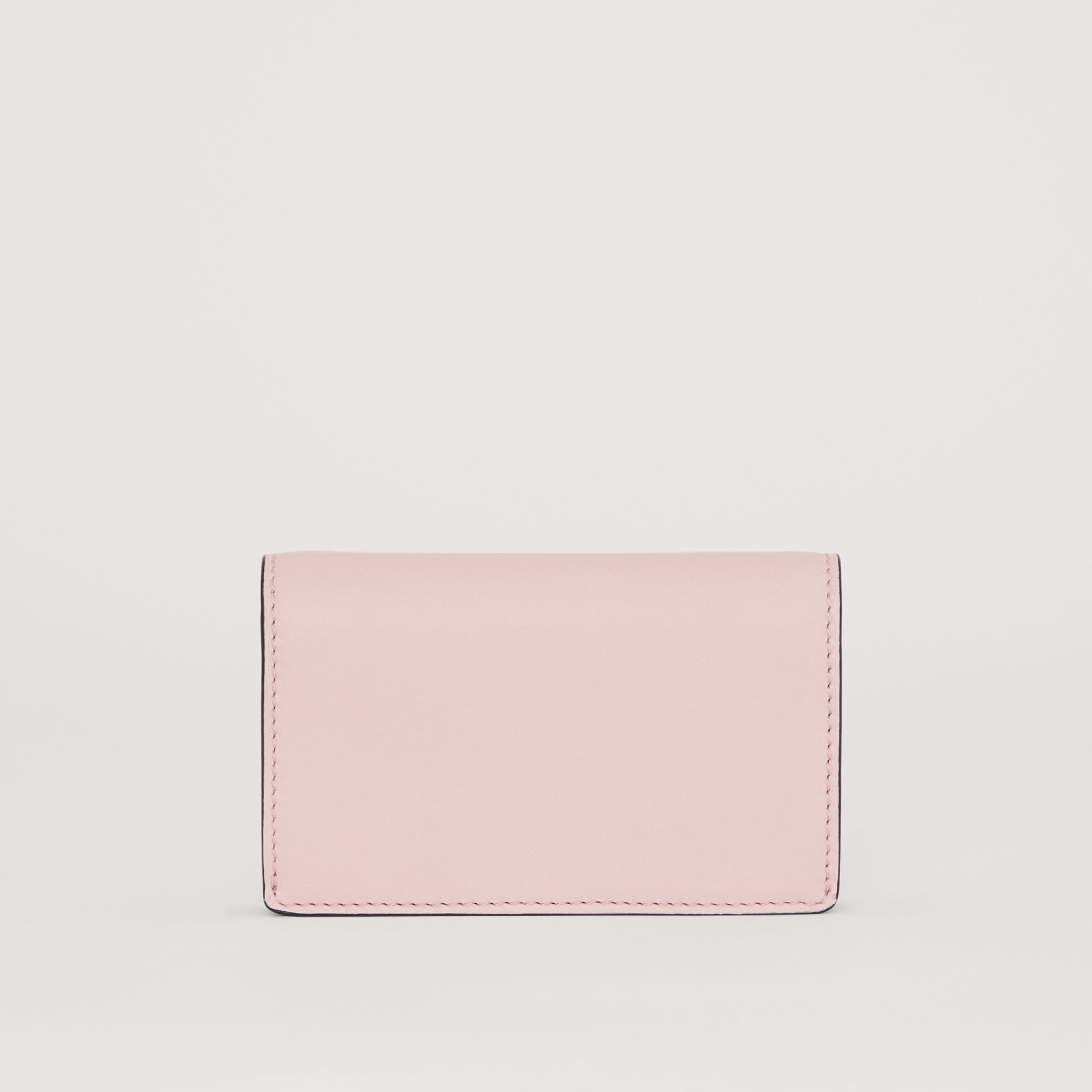 Small Embossed Crest Two-tone Leather Wallet in Chalk Pink - Women | Burberry United Kingdom - gallery image 4