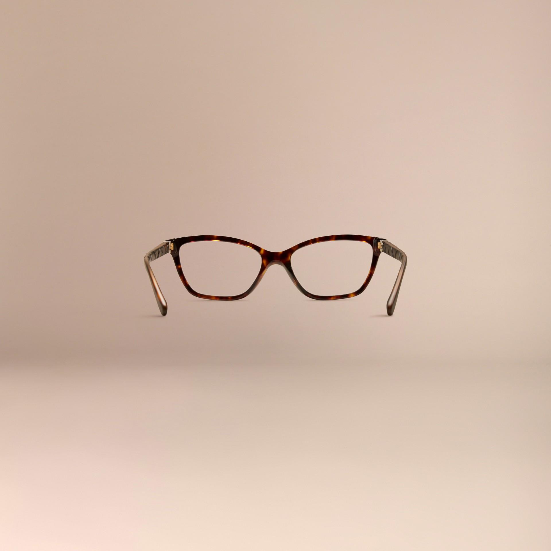 Écaille de tortue Monture œil de chat pour lunettes de vue à motif check Écaille  Tortue - photo de la galerie 4