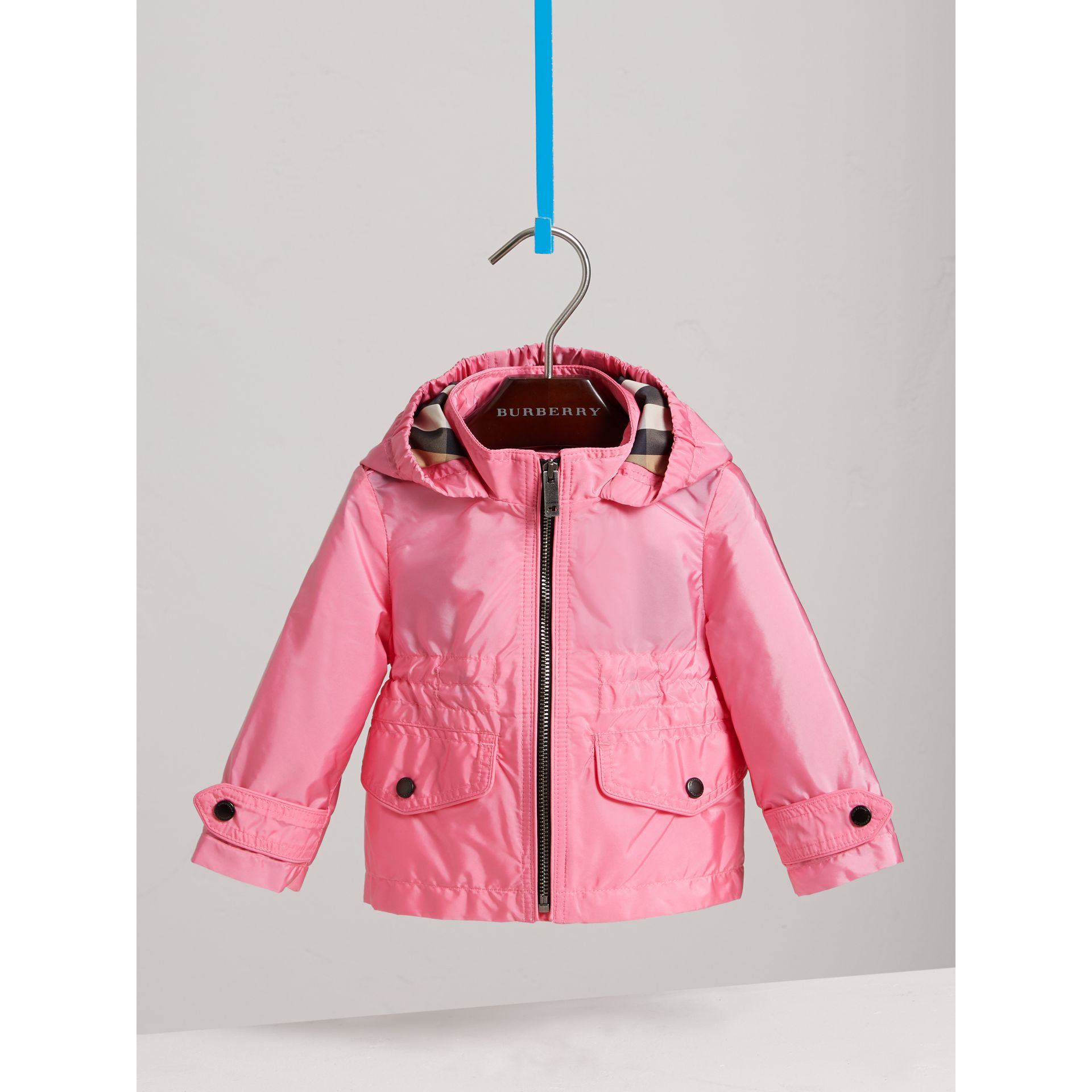 Hooded Packaway Technical Jacket in Peony | Burberry - gallery image 2
