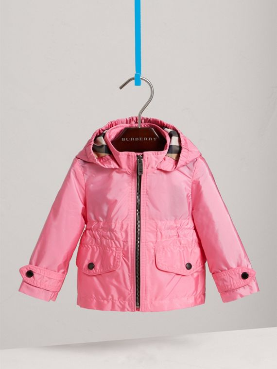 Hooded Packaway Technical Jacket in Peony | Burberry - cell image 2