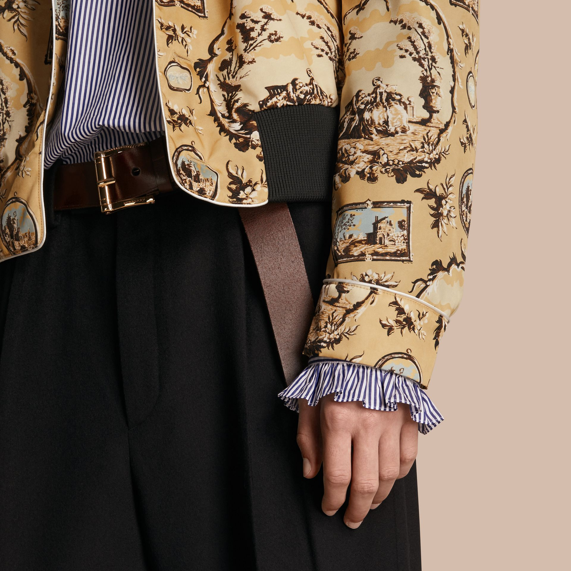 Yellow barley Wallpaper Print Bomber Jacket - gallery image 6