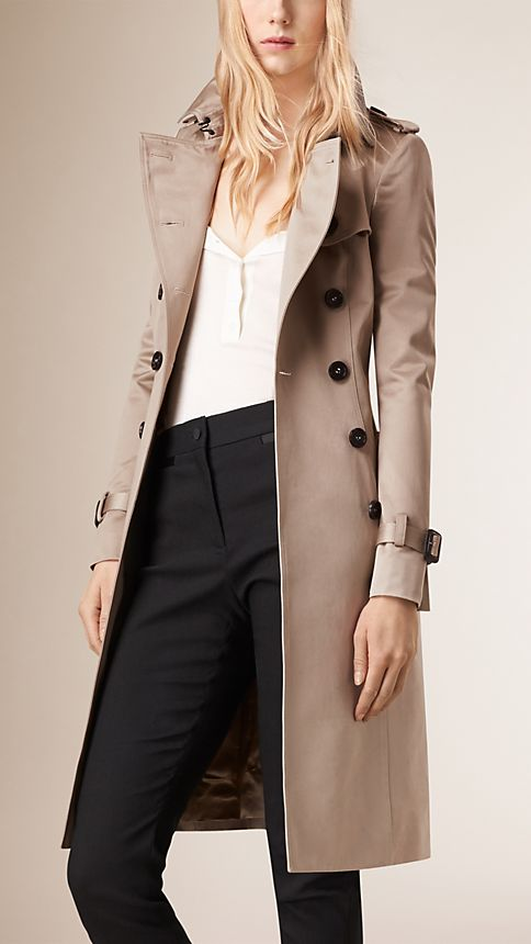 Trench Cotton Sateen Trench Coat  - Image 4