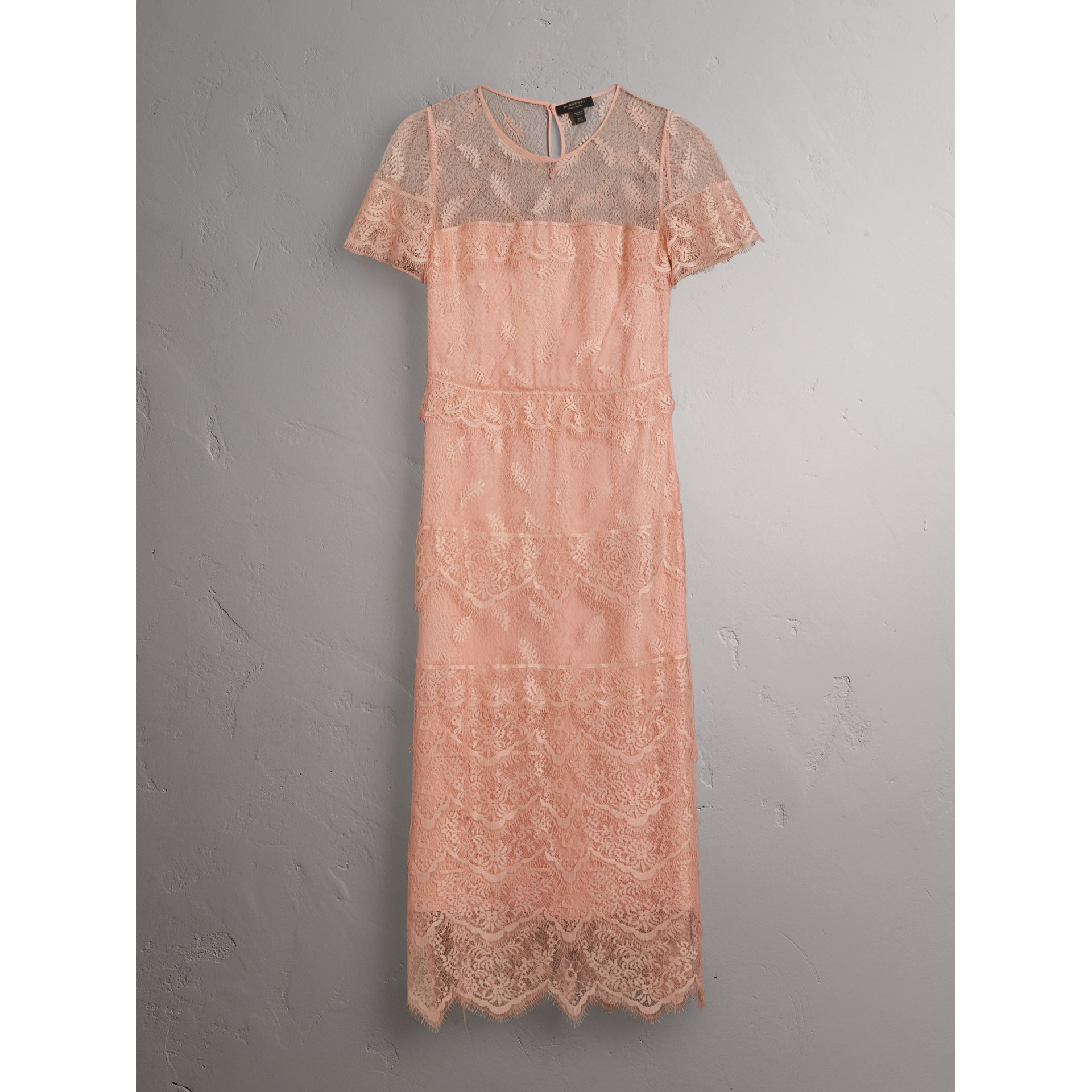 Tiered Lace Shift Dress - Women | Burberry - gallery image 4