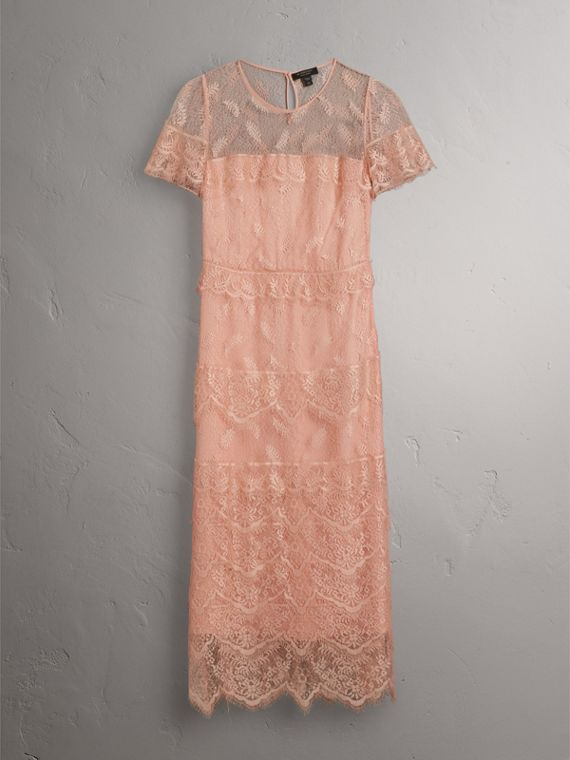 Tiered Lace Shift Dress - Women | Burberry - cell image 3