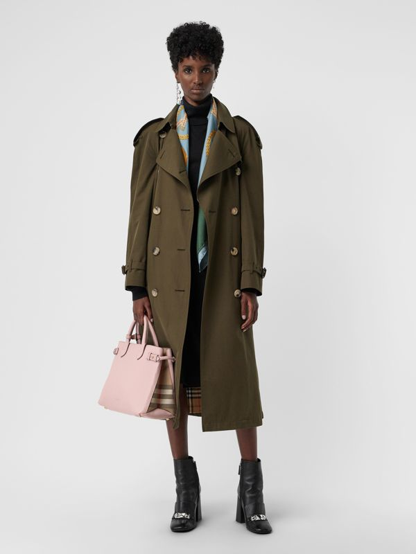 The Banner media in pelle con motivo House check (Orchidea Chiaro) - Donna | Burberry - cell image 2